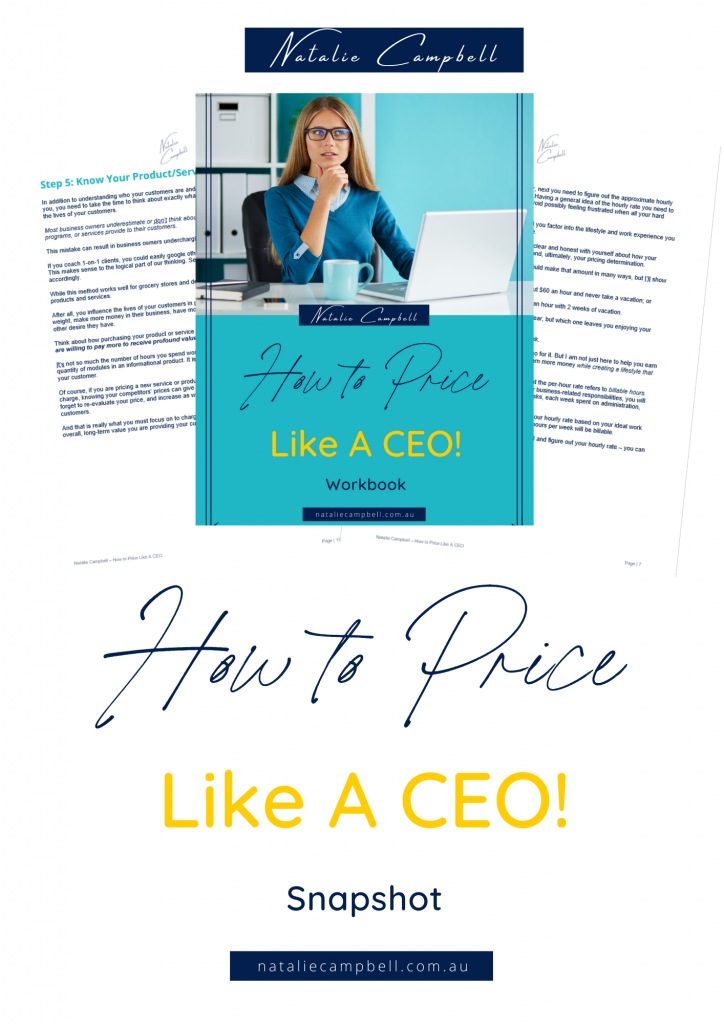 How to Price Like A CEO snapshot   Natalie Campbell